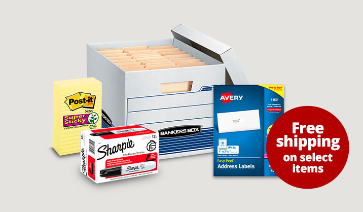 Save up to 50% on select office supplies. Free shipping on select items