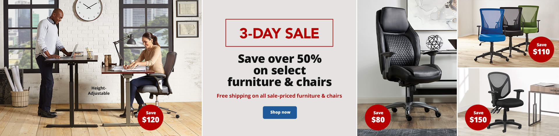 3-Day Sale. Save over 50% on select furniture & chairs. Free shipping on all sale-priced furniture & chairs