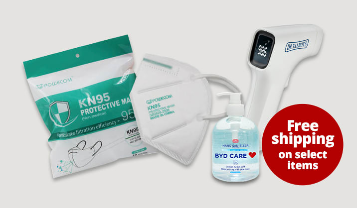 Health & Wellness Stock up on hand sanitizers, masks & more