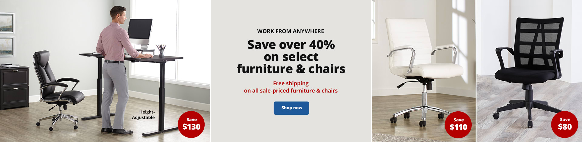Save over 40% on select furniture & chairs. Free shipping on all sale-priced furniture & chairs