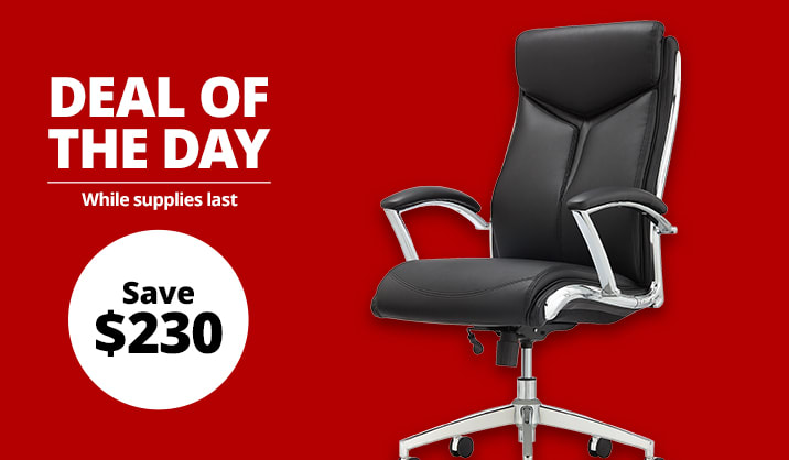 $149.99 Realspace® Modern Comfort Verismo High-Back Executive Chair