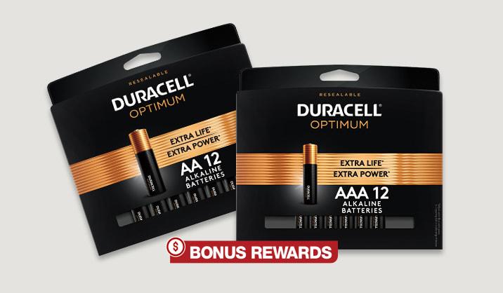 100% Back in Rewards Duracell® Optimum AA/AAA 12-pk Batteries