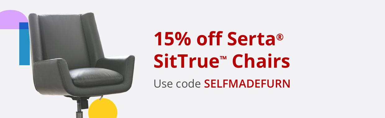 15% off Serta® SitTrue™ Chairs