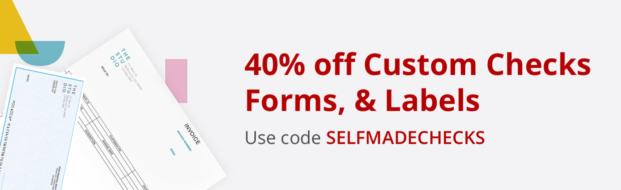 40% off Custom Checks, Forms, & Labels