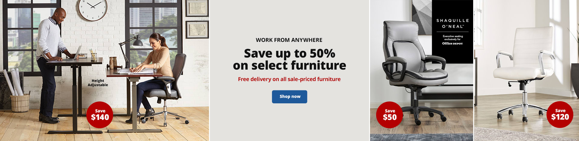 Work From Anywhere. Save up to 50% on select furniture. Free delivery on all sale-priced furniture