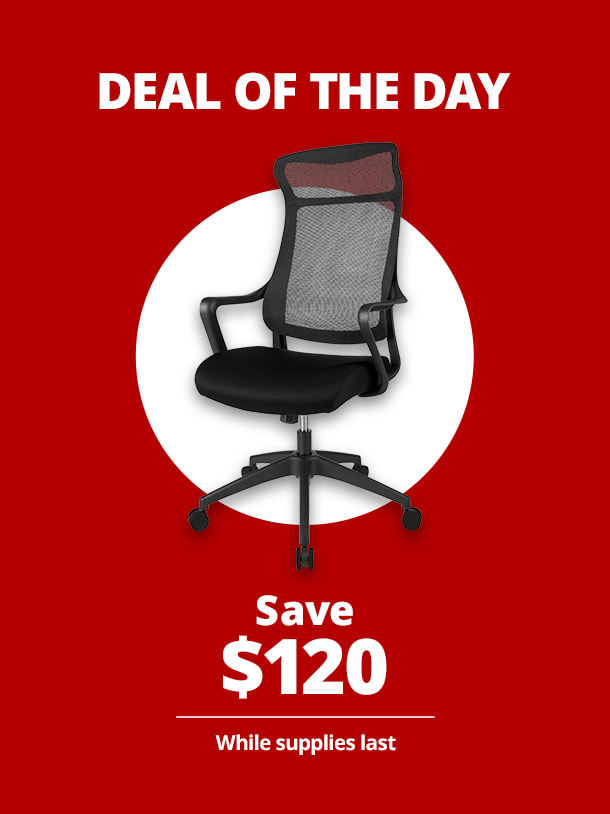 $99.99 Realspace® Lenzer High-Back Task Chair