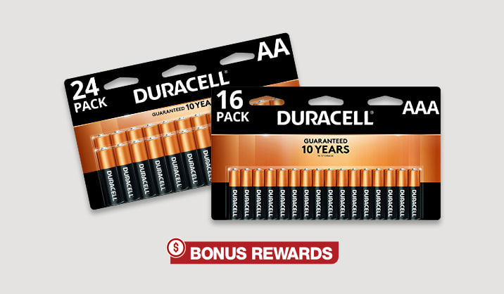 100% Back in Rewards Duracell® Coppertop AA/AAA 16-pk & 24-pk batteries