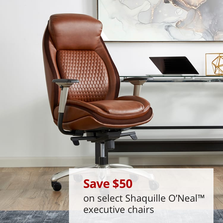 Save $50 on select Shaquille O'Neal Executive chairs