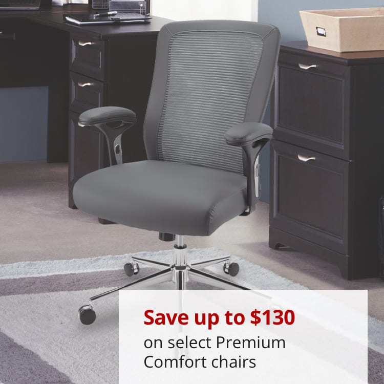 Save up to $130 on select Premium Comfort seating