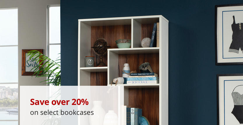 Save over 15% on select bookcases