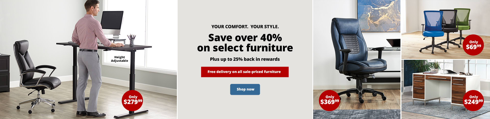 Save over 40% on select furniture | plus up to 25% back in rewards