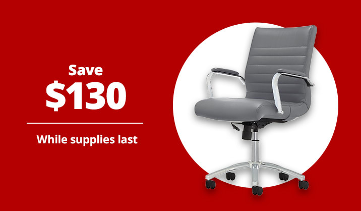 $99.99 Realspace® Modern Comfort Winsley Mid-Back Manager's Chair