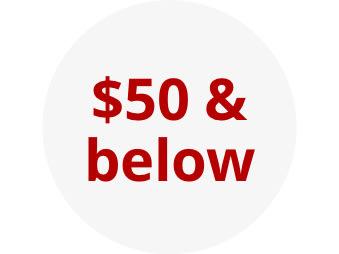 $50 & below