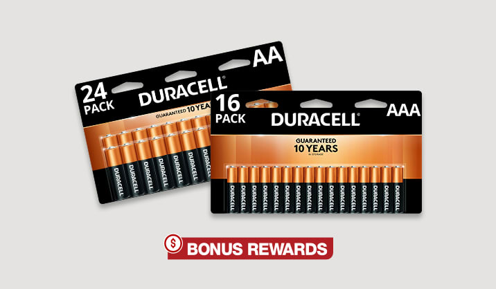 100% Back in Rewards Duracell® Coppertop AA/AAA 16 & 24-pk batteries