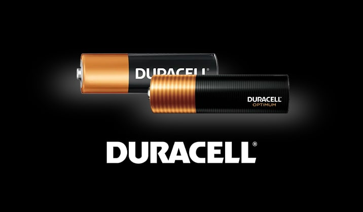 Don't forget the batteries. Duracell® #1 trusted battery brand