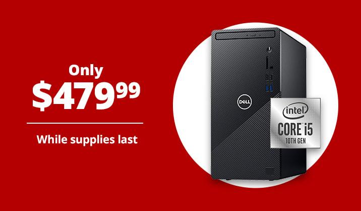 $479.99 Dell™ Inspiron 3880 Desktop PC, Intel® Core™ i5, 8GB Memory, 1TB Hard Drive/256GB SSD