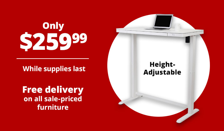 """$259.99 Realspace® 48""""W Electric Height-Adjustable Standing Desk"""