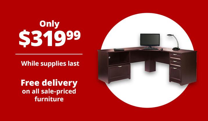 "$319.99 Realspace® Magellan Performance 71""W L-Shaped Desk"