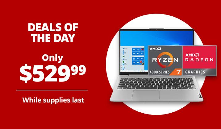 "Only $529.99 Lenovo® IdeaPad 5 15.6"" Laptop, 8GB Memory, 256GB SSD, Wi-Fi 6"