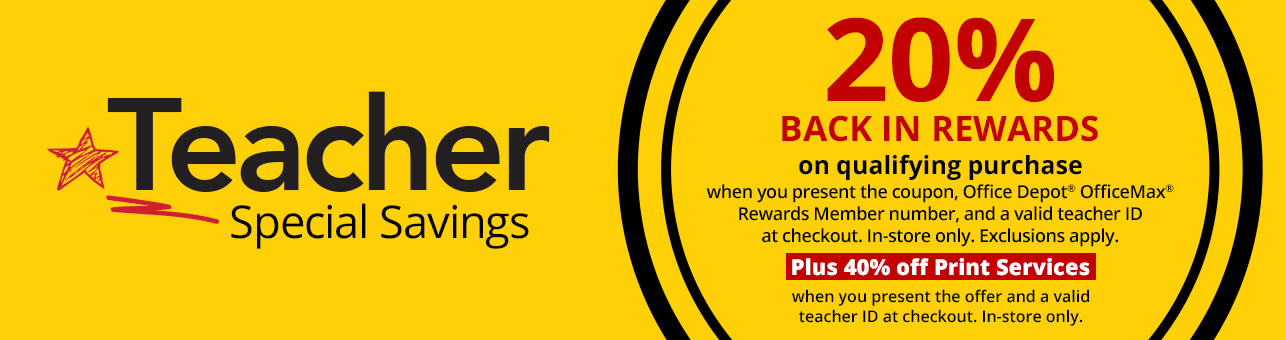 20% back in rewards PLUS 40% off print services