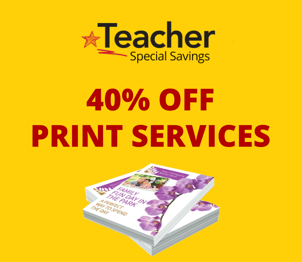 40% Off print services