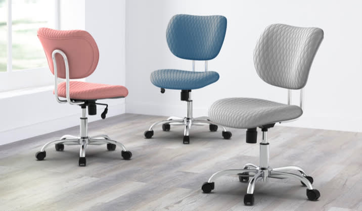 Realspace® Jancy Quilted Fabric Low-Back Task Chair