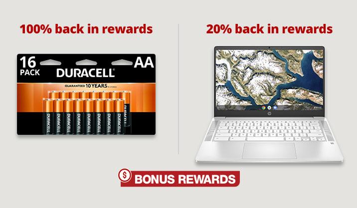 Earn Bonus Rewards on select products