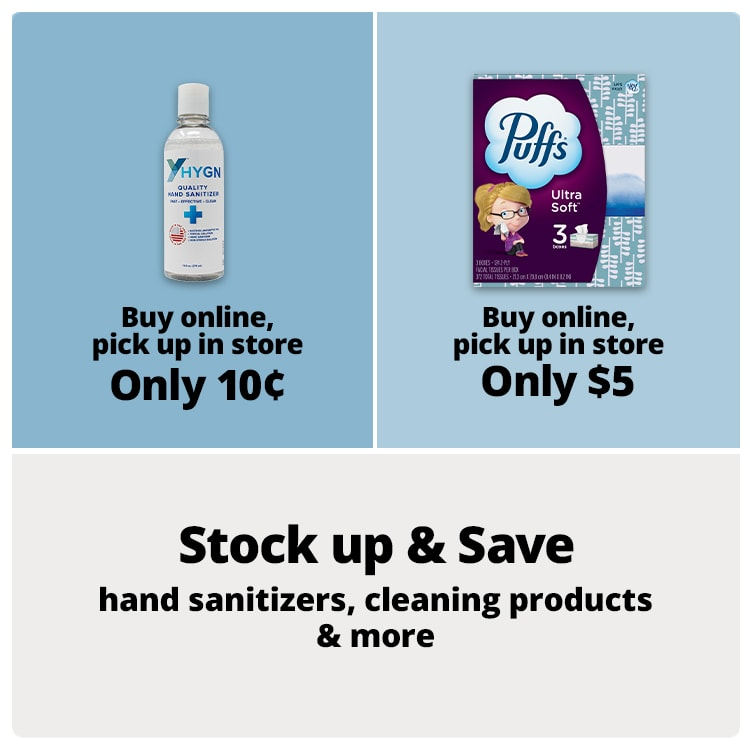 Stock up and save on cleaning products & more