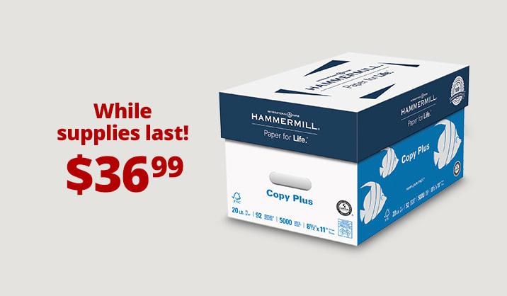 Hot Paper Deals Hammermill® copy paper, 10-ream case