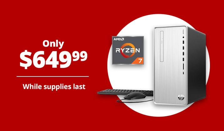 Only $649.99 HP Pavilion Desktop PC, 16GB Memory, 256GB SSD