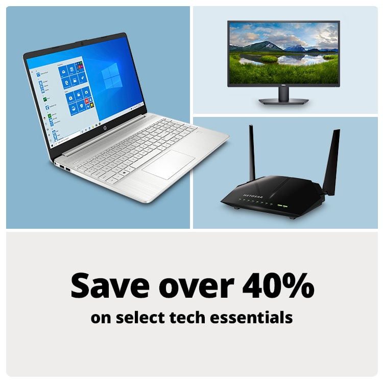 Save over 40% on select tech essentials