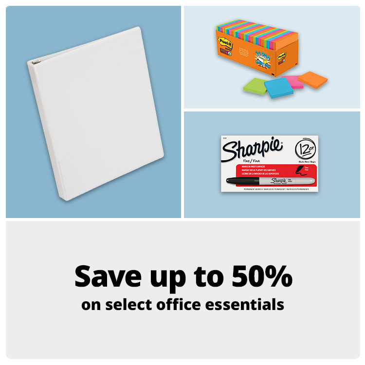 Save up to 50% on select office essentials