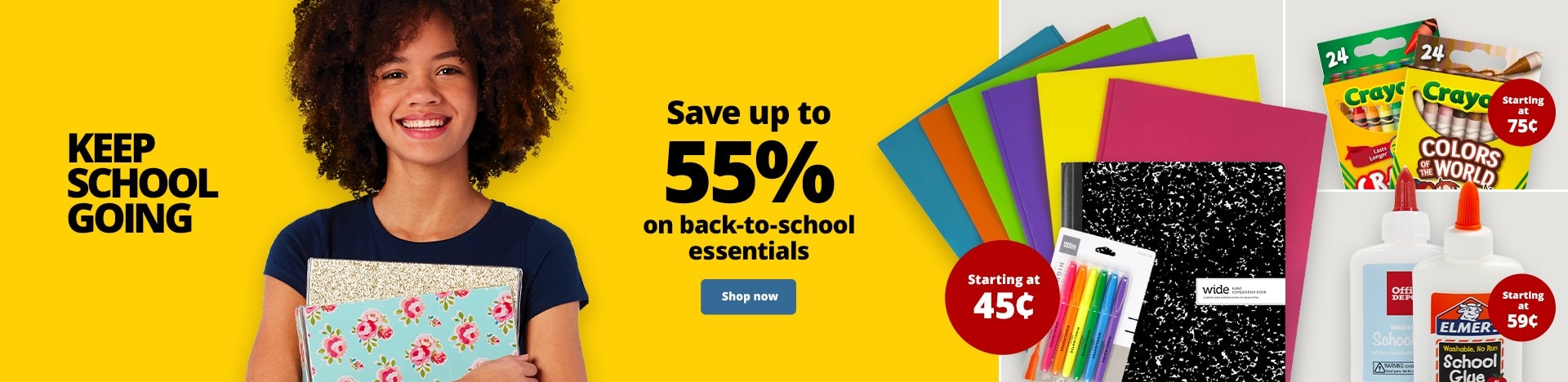 Keep School Going. Save up to 55% on back-to-school essentials