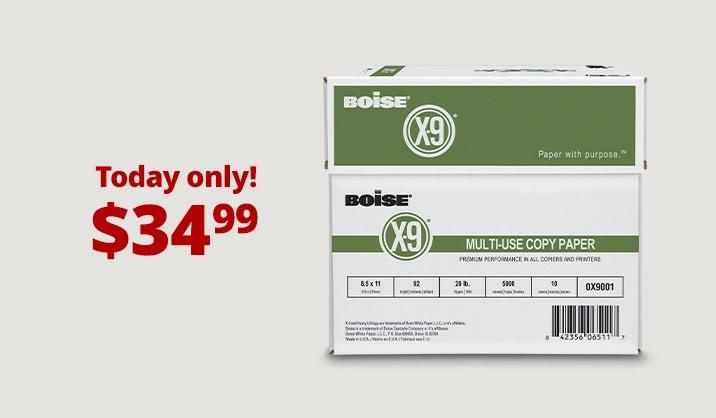 Hot Paper Deals. Boise® X-9® copy paper, 10-ream case