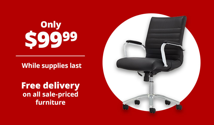 Only $99.99 Realspace® Modern Comfort Winsley Mid-Back Manager's Chair