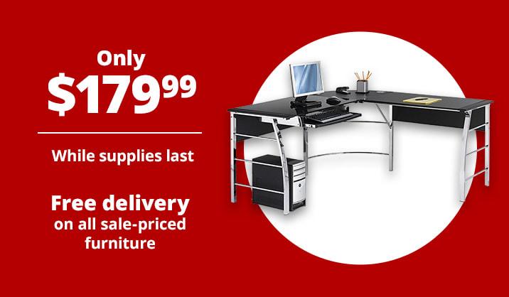 "Only $179.99 Realspace® Mezza 62""W L-Shaped Desk"