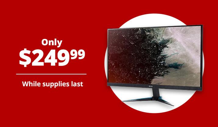 """Only $249.99 Acer® Nitro 27"""" WQHD Monitor, FreeSync"""