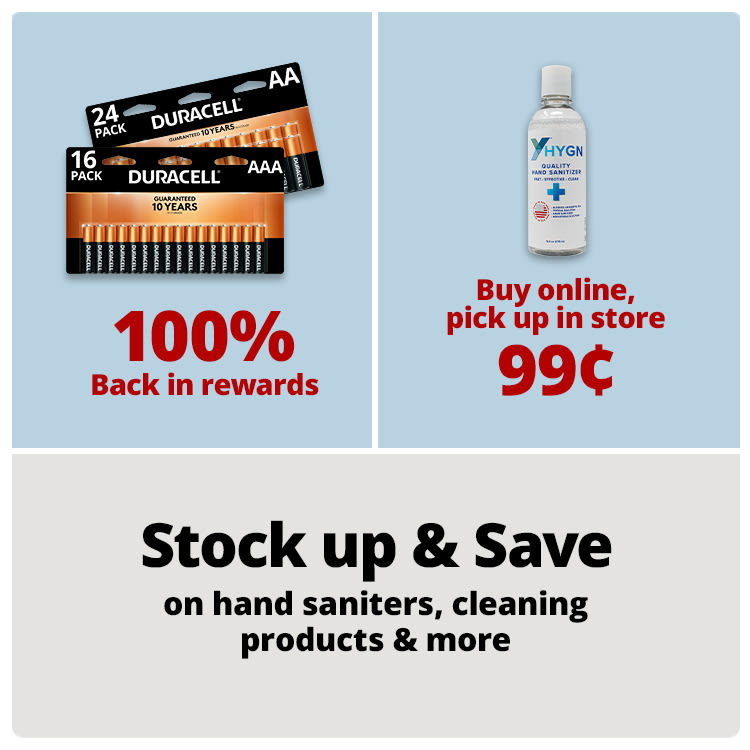 Stock up and save