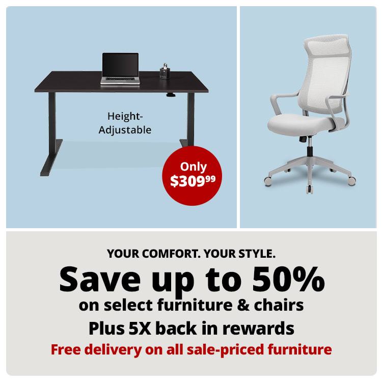 Save up to 50% on select furniture & Chairs