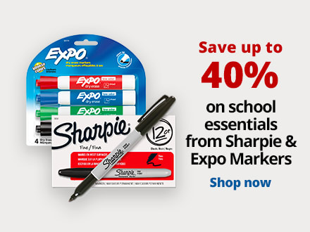 Save up to 40% on school essentials from Sharpie & Expo markers