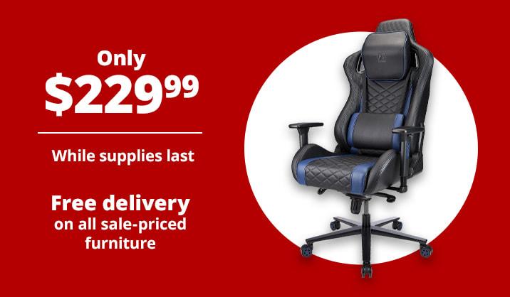Only $229.99 RS Gaming™ Davanti High-Back Gaming Chair