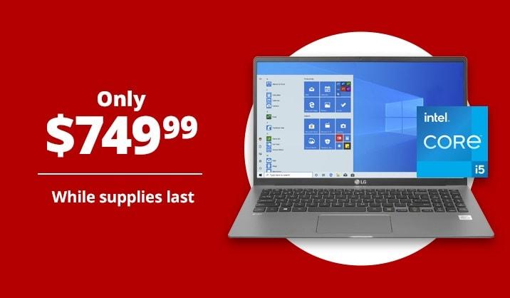 "Only $749.99 LG Gram 15.6"" Ultra-Slim Laptop, 8GB Memory, 256GB SSD, Wi-Fi 6"