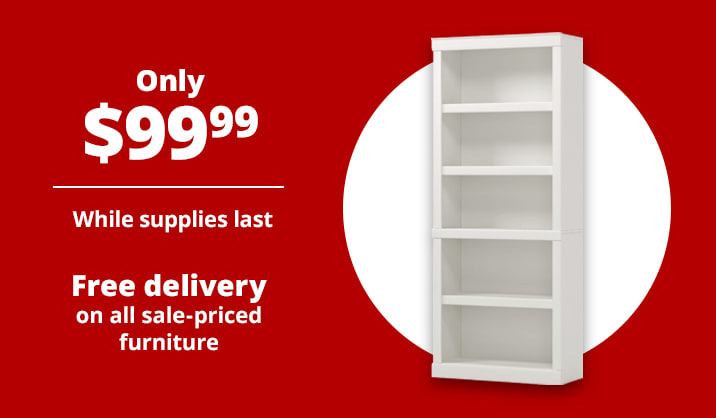 """Only $99.99 Realspace® 72""""H 5-Shelf Bookcase"""