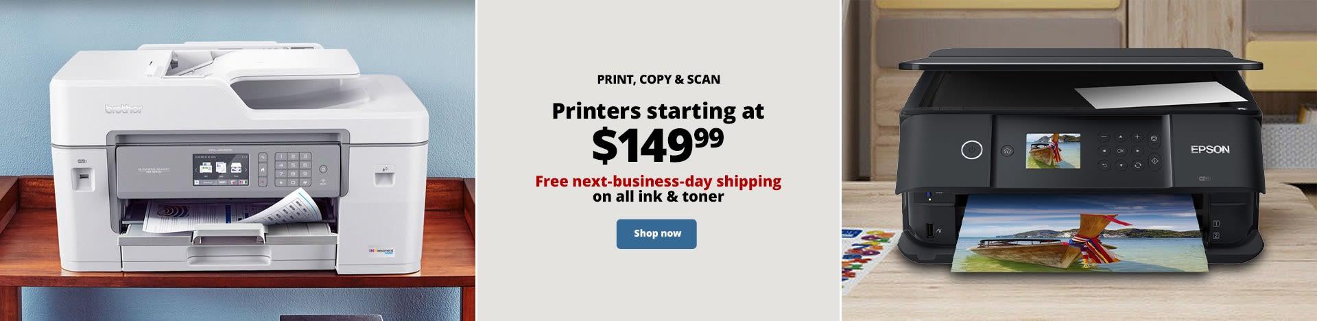 Printers starting at $149.99
