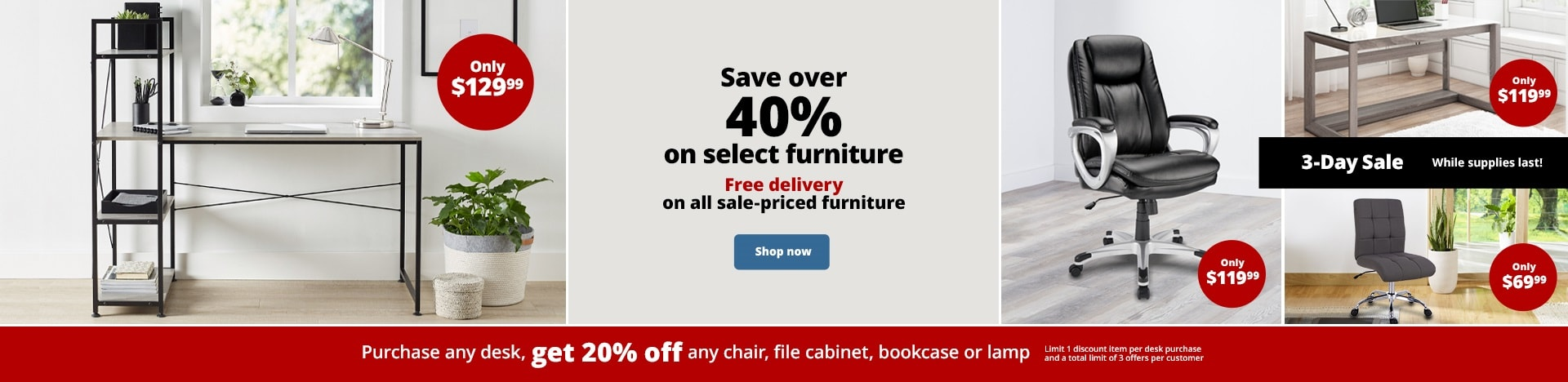 Save over 40% on select furniture. Free delivery on all sale-priced furniture