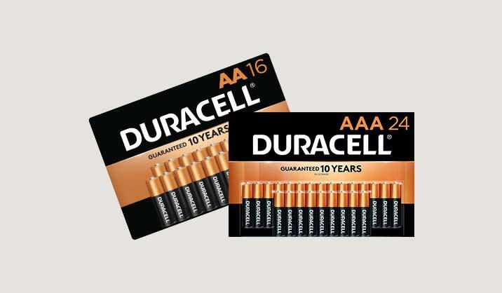 100% Back in Rewards on Duracell® Coppertop batteries AA/AAA 16 & 24pks