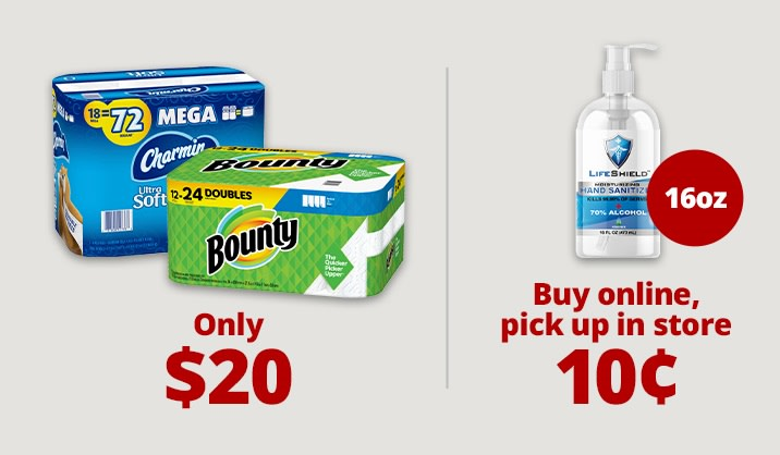 Stock up & Save on hand sanitizers, masks and more