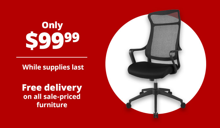 Only $99.99 Realspace® Lenzer High-Back Task Chair