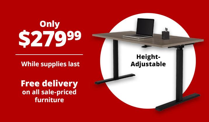 Only $279.99 Realspace® Magellan Pneumatic Height-Adjustable Standing Desk