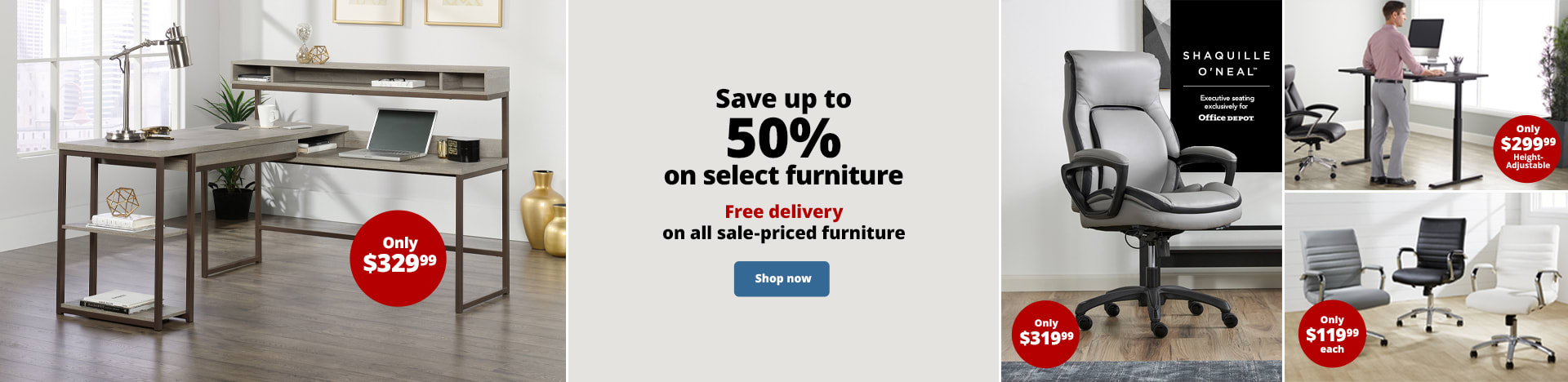 Save up to 50% on select furniture. Free delivery on all sale-priced furniture